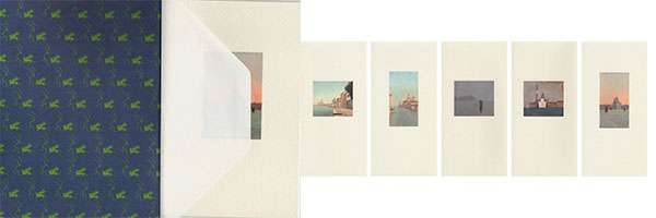 Prints color, Venice views, in small format