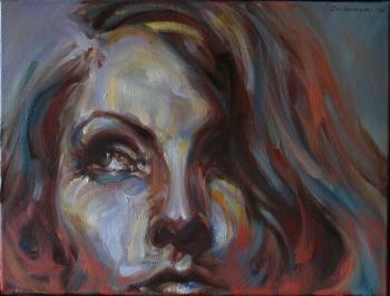 GRETA GARBO, olio su tela, cm 30x40, 2006
